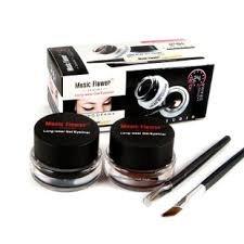 Music Flower long lasting gel eyeliner (smudge-proof) Black and Brown