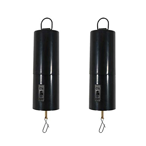 Fenteer 2Pieces Battery Operated Hanging Display Wind Spinner Motor Garden Decor Accessory