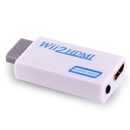 Wii Hdmi Adapter Wii zu HDMI Adapte Wii Converter HDMI mit HD Video Audio Ausgang für TV Monitor Beamer Fernseher