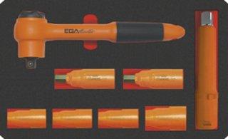EGA Master 79437–Set 8Stück–Steckschlüsseleinsätze 3/20,3cm 1000V (in Zoll)