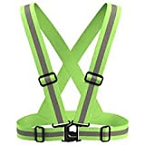 #10: LifeKrafts Safety Reflective Vest for Outdoors and Biking , Motorcycle and cycling protective gear. Be Seen Be Safe