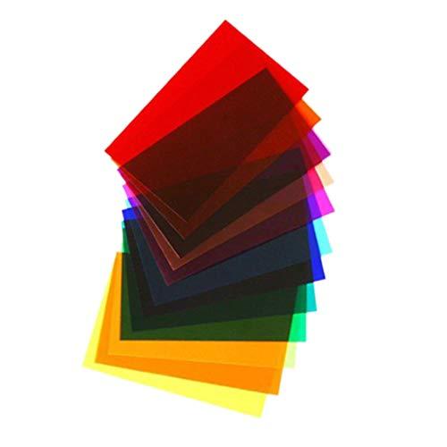 Beaums 12pcs / Set Kamera Strobe-Blitz-Licht-Filter Farbkorrektur Anzündgel Blätter Kamera-Zubehör Strobe Set