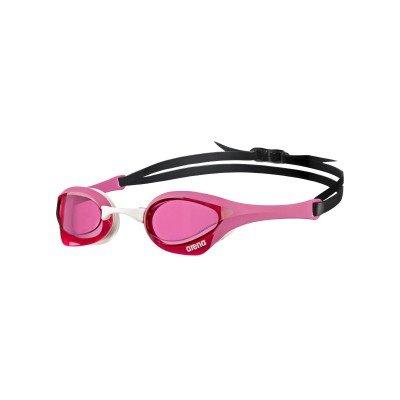 Arena, Schwimmbrille Cobra Ultra, pinkfarbene Gläser, pink/weißer Rahmen