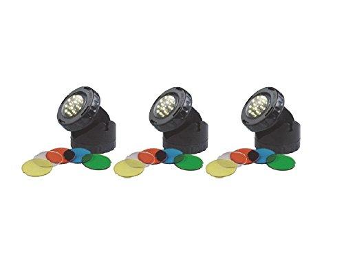 AquaForte LED Garten und Teich-Unterwasser-Beleuchtung, schwarz, 14x19x10 cm, SG166