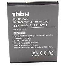 vhbw Li-Polymer batería 3000mAh (3.8V) para teléfono móvil Smartphone teléfono Zopo S5570, Speed 7 Plus por BT557s.
