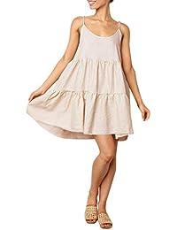 iHENGH Mini Dress Senza Manica Casual Spiaggia per Donna Shirt Queen Moda  Cotone Girocollo Pliestere Ragazza abdc5614da9