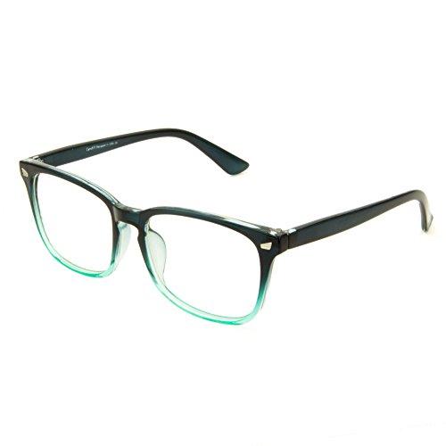 Cyxus Gafas de computadora con filtro de luz azul para bloquear el dolor de cabeza por UV [Anti Eyestrain] Gafas clásicas, unisex (hombres / mujeres) (Verde)