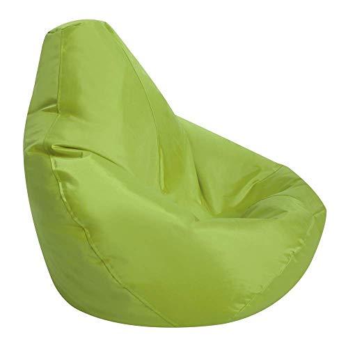 Hi-BagZ® Kids Puf de niños juegos silla–Puf para niños (resistente al agua), color verde