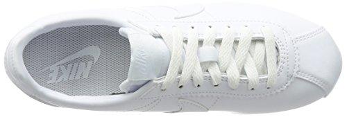 Nike Wmns Classic Cortez Leather, Scarpe da Ginnastica Donna Bianco (White/White)