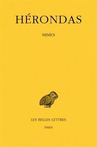 Mimes par Hérondas