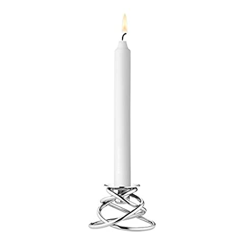 Georg Jensen Glow Stainless Steel Candle Holder, Tall