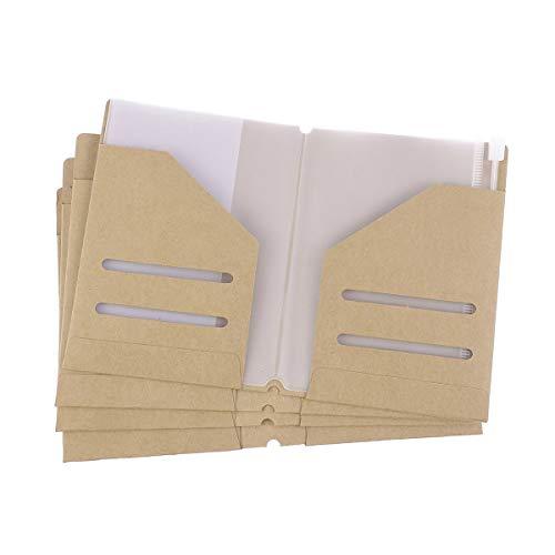 TOYANDONA 4pcs Kraft Paper Folder Refill Kunststoff Binder Tasche für Passport (Kraftpapier Binder)