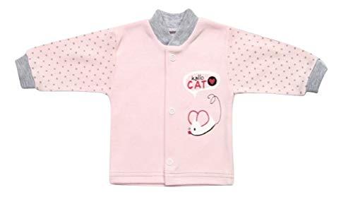 Baby-Jäckchen BY45 Gr. 68, Jacke West-e rosa Neugeborene Babies Säugling-e zum Strampler Geschenk-e