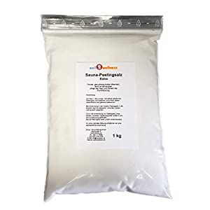 Sauna Peelingsalz Extra/Saunasalz fein 1,0 kg – 100% naturrein im Zipper Beutel