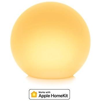 Eve Flare - Lampe LED intelligente portable avec technologie Apple HomeKit, protection IP65 pour la résistance à l'eau et chargement sans fil