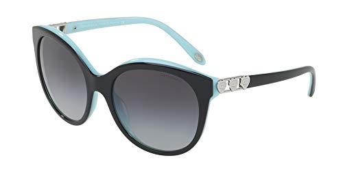 Tiffany & co. 0ty4133 80553c 56 occhiali da sole, nero (black/blue/graygradient), donna