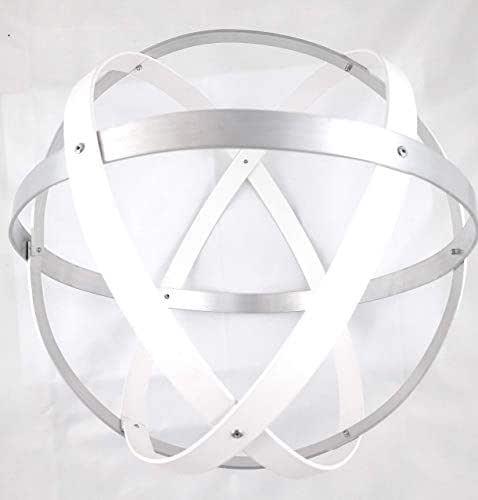 Genesa Crystal, Purificatore energia, Dispositivo orgonico 32 cm diametro, Bianco e Argento