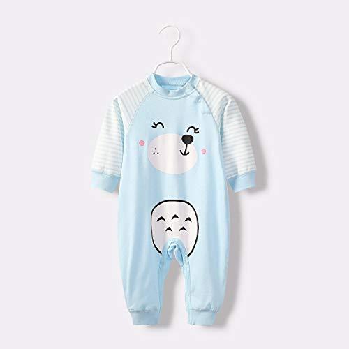 HUACANG Baby Kind Siamesischer Schlafanzug Baumwollstoff Im Frühling Warm Halten Pyjamahose Eingestellt Verschiedene Spezifikationen 1-5 Jahre Alt (Farbe : Bear, Size : 80cm) (Brown Bear Pyjama Kostüm)