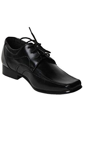 Chaussure Garçon Cérémonie Derby surpiqûres noire Noir