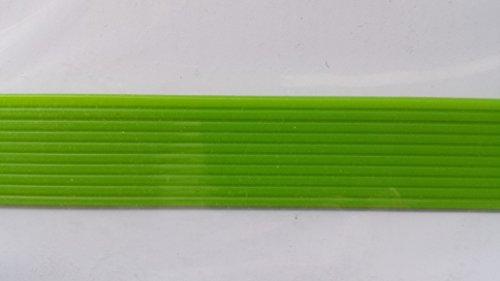 bastelkoerble Verzierwachs - Wachsstreifen in hellgrün rund, 200 x 2mm - 10 Stück.