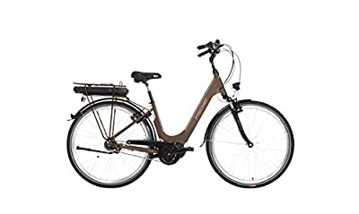 """Fischer E-Bike City CITA 3.0 (2019), mocca matt, 28"""", RH 44 cm, Mittelmotor 50 Nm, 36 Volt Akku 396 Wh"""