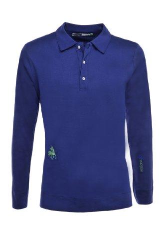 Der klassische Rider's Herren Polo Long Sleeve Blau - Deep Blue