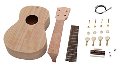 Monsterzeug DIY Ukulele Bausatz, Sopran Gitarre selber bauen, Do it yourself Konzert Bauset Classic Cantabile