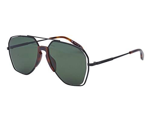 Alexander McQueen Sonnenbrillen (AM-0197-S 002) schwarz matt - brau-grün