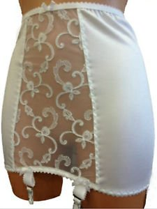 """Elaine Edwards """"Camilla"""" Bridal Lace Open Bottom Girdle 6 Strap"""