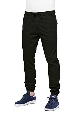 Twill Jogger Pants Für Männer (REELL Reflex Twill Pant, Black L normal Artikel-Nr.1111-003 - 01-001)
