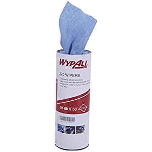 Kimberly-Clark Wypall High Absorbent Reusable Wiping Cloth, X70 50 sheets per Roll, 60019
