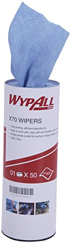 Wypall Kitchen Towel, High Absorbent and Reusable Cloth , X70, Pack of 50 sheets, Blue, 60019 by Kimberly-Clark