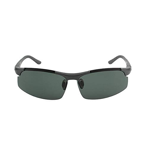 xinzhi Polarized Sonnenbrillen, Polarized Sonnenbrillen Herrenbrillen Nachtsicht-Sonnenbrillen Imitation Aluminium Magnesium Sonnenbrillen - Dunkelgrün