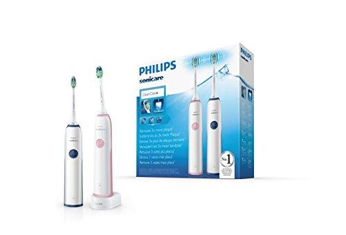Philips Sonicare CleanCare Cepillo dental eléctrico sónico HX3212/61 - Cepillo de dientes eléctrico (Batería, Integrado, 110-220 V, Níquel-metal hidruro (NiMH), 2 pieza(s), 2 pieza(s))