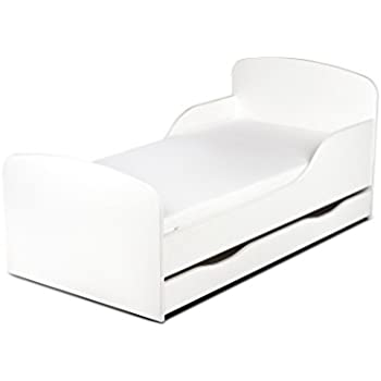 moderne lit d 39 enfant toddler avec matelas couleur blanc. Black Bedroom Furniture Sets. Home Design Ideas