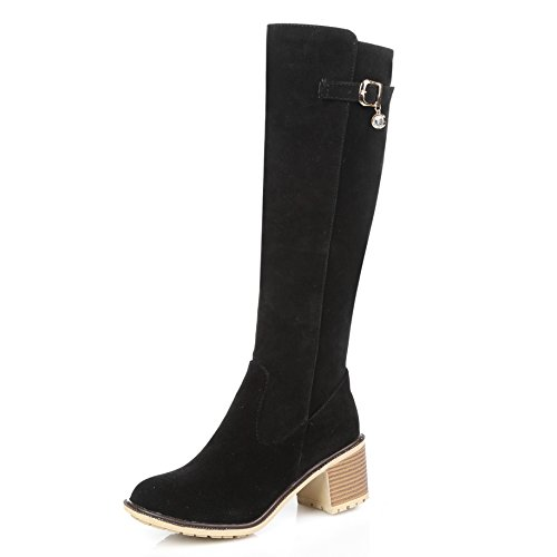 Fashion Heel  Knee High Boots,  Damen Stiefel Schwarz