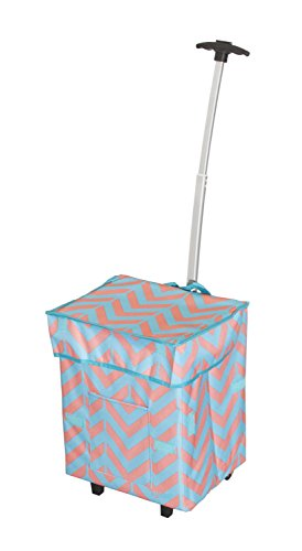 dbest-trendy-smart-cart-11-inch-x-13-x-43-cm-casse-chevron