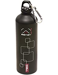 Elementerre PEAR 750 - Botella de aluminio hermética y estanca con capacidad para 0,75 litros, color negro , talla 25 x 7