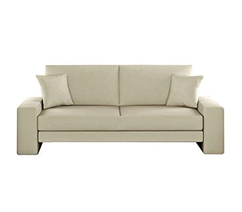Schlafcouch Schlafsofa - Supra Moderne Sofa mit Schlaffunktion, Lounge Couch, Bettsofa, Materialmix, Couch vom Hersteller, Couchgarnitur (D-100)