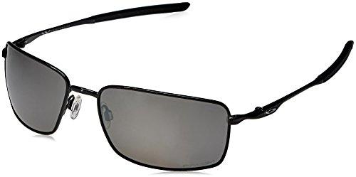 Oakley Herren Square Wire 407513 60 Sonnenbrille, Schwarz (Polished Black/Prizmblack),