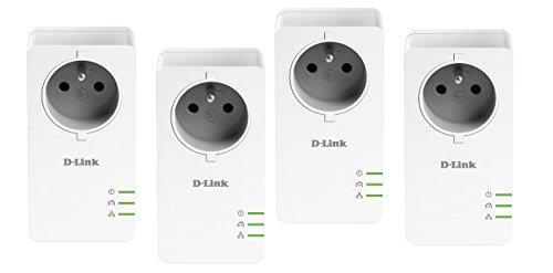 D-Link - DHP-P601 AVx2 - Kit de 4 Adaptateurs CPL 1000 Mbps - Blanc