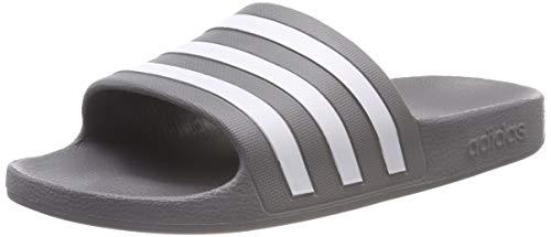 adidas Unisex-Erwachsene Adilette Aqua Badeschuhe, Grau (Grey/Footwear White/Grey 0), 46 EU