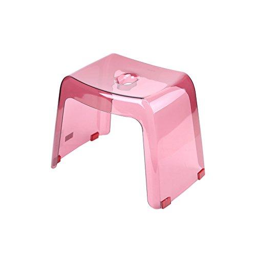 Badezimmer Dusche Dusche Stuhl Hocker kleine Hocker Slip Mode kreative Kinder Kunststoff Hocker Wasch Fußbank (Farbe : Pink)