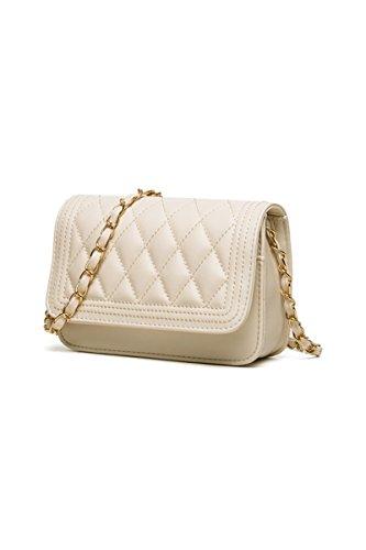 TOOGOO(R) Borse di cuoio delle donne del sacchetto di spalla delle borse del messaggero delle donne bianca Beige