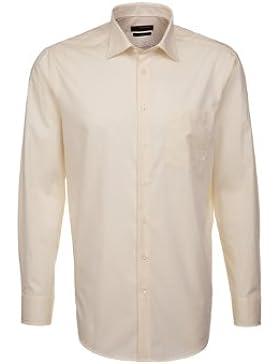 Seidensticker Hemd Uno Kentkragen in Langarm (66cm) Bügelleicht rot, Einfarbig