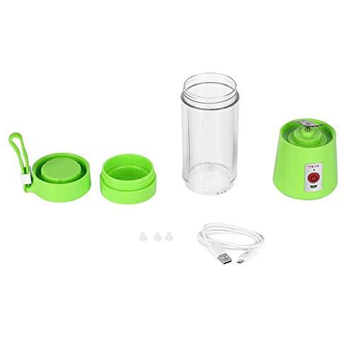 Peepheaven Tasse de jus de mélangeur de Main de Smoothie de Fabricant de jus de Fruit électrique de Presse-Fruits électrique de 380ml USB - Vert