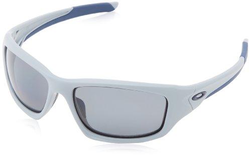 Oakley Herren Valve Rechteckig Sonnenbrille, Matte Fog / Grey Polarized (S3)/Grey Polarized (S3)