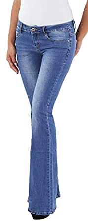 92873e6fb0ef Sotala Bootcut Jeans Schlaghose Damen Stretchhose Flared Hose ...