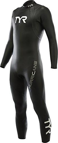 TYR Hurricane C1 Combinaison Triathlon Homme, Noir/Blanc, FR : XS (Taille Fabricant : XS)