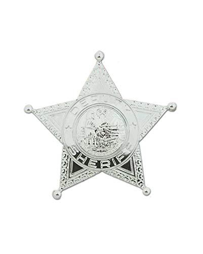 Horror-Shop Glänzender Sheriff Stern